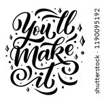 you will make it  quote or wish ... | Shutterstock .eps vector #1190095192