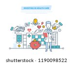 investing in health care and... | Shutterstock . vector #1190098522