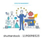 effective management ... | Shutterstock . vector #1190098525