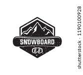 snowboard logo  vector... | Shutterstock .eps vector #1190100928
