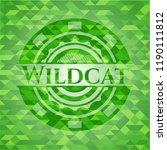 wildcat realistic green emblem. ... | Shutterstock .eps vector #1190111812