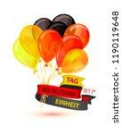 tag der deutschen einheit.... | Shutterstock .eps vector #1190119648
