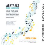 color music notes on a solide... | Shutterstock .eps vector #1190127232