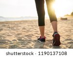 Lady Running On The Beach  This ...