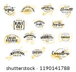 italian pasta food icons.... | Shutterstock .eps vector #1190141788