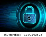 safety concept  closed padlock... | Shutterstock .eps vector #1190143525