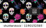 mexican seamless pattern with...   Shutterstock .eps vector #1190152585