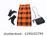 set of long stripy skirt with...   Shutterstock . vector #1190152795