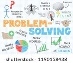 problem solving vector graphic... | Shutterstock .eps vector #1190158438