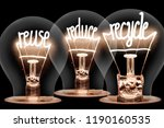 photo of light bulbs with... | Shutterstock . vector #1190160535