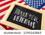 composite of veterans day flag | Shutterstock . vector #1190163865