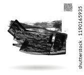 grey  brush stroke and texture. ... | Shutterstock .eps vector #1190165935