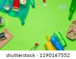 waste materials paper  plastic  ...   Shutterstock . vector #1190167552