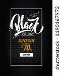 black friday sale poster....   Shutterstock .eps vector #1190167972