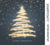 stylized gold merry christmas... | Shutterstock .eps vector #1190168935
