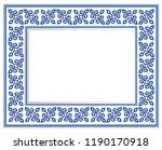 blue and white ceramic...   Shutterstock .eps vector #1190170918