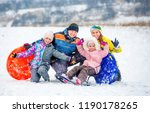 active happy family smiling and ... | Shutterstock . vector #1190178265