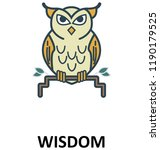 wisdom isolated color vector... | Shutterstock .eps vector #1190179525