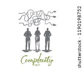 complexity  business  solution  ... | Shutterstock .eps vector #1190198752