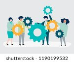 characters of business people... | Shutterstock .eps vector #1190199532