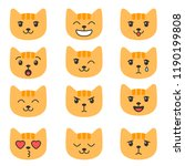 cute cats with different... | Shutterstock .eps vector #1190199808