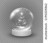 snow globe or christmas ball... | Shutterstock .eps vector #1190205862