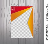 modern vector abstract book... | Shutterstock .eps vector #1190206768