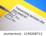 copywriting service  do you... | Shutterstock . vector #1190208712
