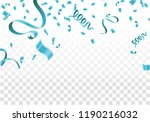 blue ribbons with confetti... | Shutterstock .eps vector #1190216032