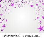 fuchsia metallic baloons on the ... | Shutterstock .eps vector #1190216068