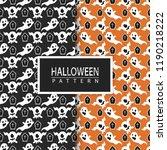 halloween seamless pattern | Shutterstock .eps vector #1190218222