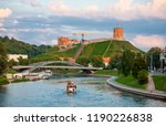 vilnius old town with river... | Shutterstock . vector #1190226838