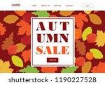 autumn sale  illustrative...