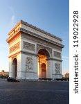 famous arc de triomphe in paris ... | Shutterstock . vector #119022928