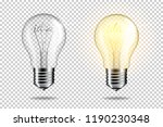 transparent realistic light... | Shutterstock .eps vector #1190230348