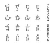 drink lines icon set | Shutterstock .eps vector #1190232448