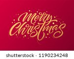 golden text on dark red... | Shutterstock .eps vector #1190234248