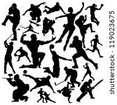 vector sport silhouette big pack | Shutterstock .eps vector #119023675