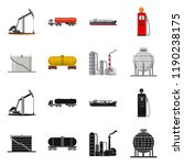 vector illustration of oil and... | Shutterstock .eps vector #1190238175