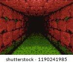 pixel art   horror corridor...   Shutterstock .eps vector #1190241985