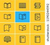 vector illustration of 12 read... | Shutterstock .eps vector #1190244592