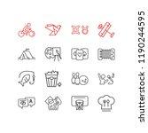 vector illustration of 16 hobby ... | Shutterstock .eps vector #1190244595