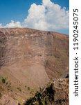 the crater of mount vesuvius.... | Shutterstock . vector #1190245075