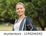 portrait of a smiling healthy... | Shutterstock . vector #1190246542