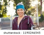 portrait of smiling senior... | Shutterstock . vector #1190246545