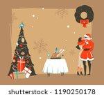 hand drawn vector abstract... | Shutterstock . vector #1190250178