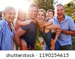 portrait of smiling multi... | Shutterstock . vector #1190254615