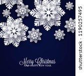 christmas party invitation...   Shutterstock .eps vector #1190257495