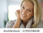 portrait of 40 year old woman... | Shutterstock . vector #1190258638