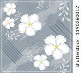 white flower scarf pattern... | Shutterstock .eps vector #1190260012